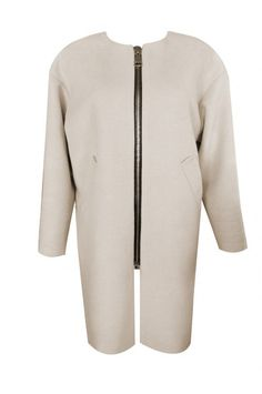 Luxurious coat with a front zipper from Anna Ivanova. Designer Coats, Beige Coat, Street Chic, Anna, Zipper, Luxury, Stylish, Sweaters, Collection