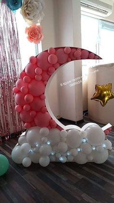 Ramadan Decorations, Balloon Decorations Party, Party Props, Balloon Garland, Birthday Party Decorations, Baby Shower Decorations, Party Themes, Birthday Parties, Deco Baby Shower
