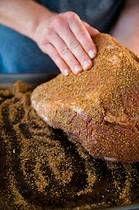 Rubbing Spices on Brisket