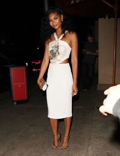 959db6f7b9 Chanel Iman Photos Photos - Celebrities dine out at Bouchon Bistro in  Beverly Hills