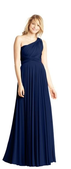 Two Birds Bridesmaid dresses - convertible gowns with over 15 ways to wear them!!  I've always been against bridesmaids wearing different dresses but it would be really cool for them to wear the same dress in different ways!