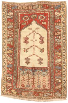 Antique 17th Century Ladik Rug 3.6 X 5.0 - Fred Moheban Gallery