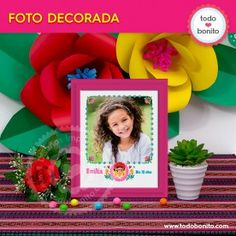 Frida - Todo Bonito Birthday, Frame, Home Decor, Photography Editing, Photographing Kids, Mexican Fiesta Party, Cute Pictures, Themed Parties, Invitations