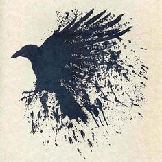 Gorgeous raven with letterings on it. Color: Black. Tags: Amazing, Beautiful, Awesome