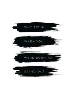 Born to stand out, plakat