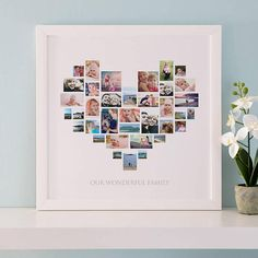 Are you interested in our Personalised Heart Photo Collage? With our heart collage you need look no further. Collage Foto, Heart Collage, Collage Collage, Wine Gift Baskets, Basket Gift, Photo Collage Template, Mom Birthday Gift, Boyfriend Birthday, Birthday Ideas
