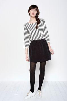 Tee-shirt Strict Ecru/noir - T-shirts m. longues et sweats - categories - e-shop