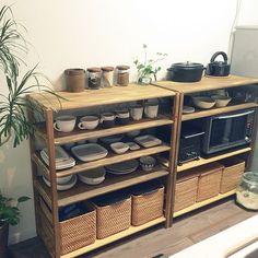 Kitchen Dinning, Home Decor Kitchen, Diy Kitchen, Kitchen Interior, Home Kitchens, Kitchen Organization, Kitchen Storage, Japanese Home Design, Dining Room Inspiration