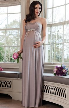 Annabella maternity gown cappuccino - Maternity Wedding Dresses, Evening Wear and Party Clothes by Tiffany Rose Kleider 👗 Stylish Maternity, Maternity Wear, Maternity Dresses, Maternity Fashion, Maternity Wedding, Tiffany Rose, Maternity Evening Gowns, Evening Dresses, Vestidos Para Baby Shower