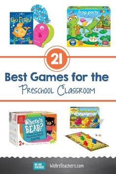 21 Awesome Board Games and Card Games for the Preschool Classroom Preschool Board Games, Preschool Classroom, Preschool Learning, Teaching Math, Preschool Crafts, Classroom Games, Childhood Games, Early Childhood Education, We Are Teachers