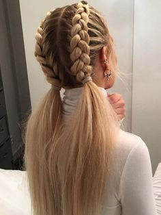 52 Braid Hairstyle Ideas for Girls Nowadays, 52 Braid Hairstyle Ideas for Girls Nowadays, Related posts:Sommerhochsteckfrisuren für lange Haare - Neu Haare Frisuren 2018 - My. Long Hairstyles, Pretty Hairstyles, Hairstyle Ideas, Braided Hairstyles For School, Hairstyles With Braids, Hairstyle Braid, Braid Ponytail, French Braid Hairstyles, Different Hairstyles
