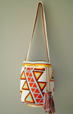 Wayuu Mochila bag www.malambo.com.au fair trade - sustainable fashion - Wayuu mochila tribal bag
