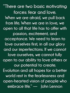 Let yourself be motivated by LOVE!