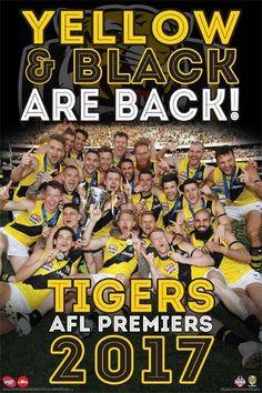 "$19.8 AUD - Afl Richmond Tigers 2017 Premiers Poster Brand ""Dustin Martin, Graham Trent #ebay #Collectibles"