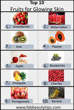 If you are irritated with dull and pigmented skin or you get acne frequently you should surely try this 10 fruits for glowing skin and for healthy face. food for skin 10 fruits for glowing skin and Healthy Skin Fruits For Glowing Skin, Diet For Glowing Skin, Glowing Skin Products, Beauty Tips For Glowing Skin, Face Products, Beauty Products, Beauty Care, Beauty Hacks, Face Beauty