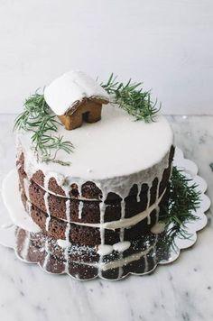 One Bowl Gingerbread Layer Cake - The Cake Merchant Christmas Sweets, Christmas Cooking, Christmas Cakes, Holiday Cakes, Xmas Cakes, Christmas Cake Decorations, Chocolate Decorations, Christmas Christmas, Cake Merchant