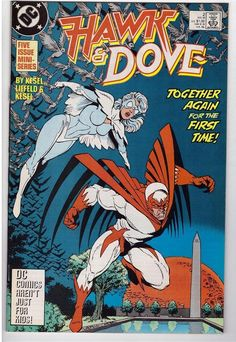 Hawk And Dove #2 Nov 1988 DC Comic Book Together Again For The First Time