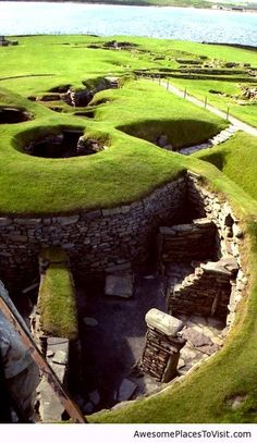 Prehistoric Archaeological Site in Shetland, Scotland