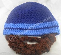 Hat with buttonin beard  made to order by dbnicegirl on Etsy, $20.00