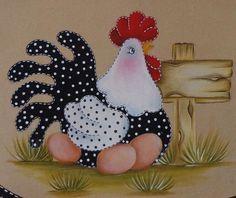 Imagen relacionada Chicken Quilt, Chicken Bird, Chicken Crafts, Applique Patterns, Applique Designs, Tole Painting, Fabric Painting, Felt Crafts, Crafts To Make