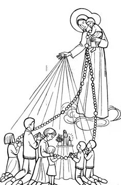 Coloring For Children Rosary In The Family Of Rue Du Bac