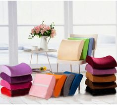 Memory Foam Office Home Car Seat Chair Lumbar Back Support Cushion Pillow Cover #Unbranded