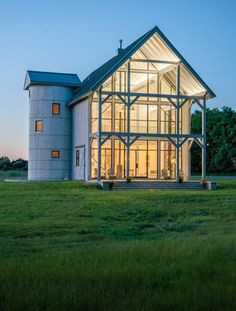 Barn House With a View Kimmel Studio Architects Archinect is part of Barn house - Barn House With a View by Kimmel Studio Architects Silo House, Rural House, My House, Modern Barn House, Barn House Plans, Barn Style Houses, Barn Houses, Cabin In The Woods, Pole Barn Homes