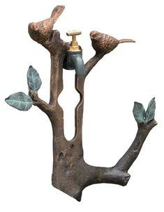 Two small songbirds rest upon a branch to help in the tidy-up of one's x 11 x Aluminium. Hurricane Lanterns, Solar Lanterns, Garden Hose Holder, Victorian Trading Company, Faux Flower Arrangements, Garden Gazebo, Swallows, Enchanted Garden, Tidy Up