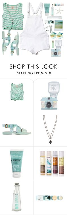 """""""#362 Afternoon at the Beach"""" by blueberrylexie ❤ liked on Polyvore featuring Hollister Co., Stone_Cold_Fox, Miista, Polaroid, Korres and summeroutfit"""