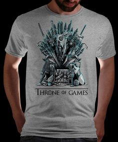 Throne of Games on Qwertee Today Only: Limited Edition Cheap Daily T Shirts   Gone in 24 Hours   T-shirt Only £8/€10/$12   Cool Graphic Funny Tee Shirts