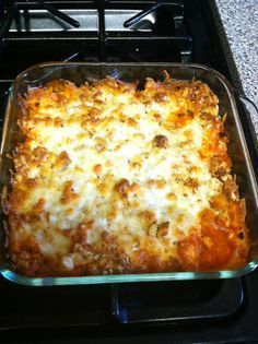 Chicken parmesan casserole, skip the croutons for low carb!