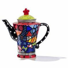 ROMERO BRITTO Teekanne Home - Pop Art Kunst aus Miami: Amazon.de: Küche & Haushalt