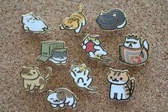 Neko Atsume Pin Set
