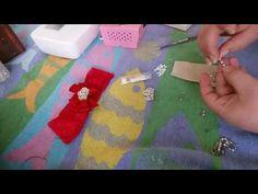 Coroa de strass e pérolas para Laço - YouTube
