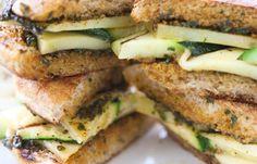 Sanduíche natural de abobrinha e muçarela de búfala - Receitas vegetarianas: go green!!!