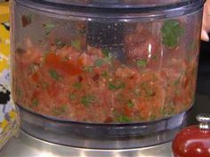 Favorite salsa recipe? Giada and Bobby answer cooking questions - TODAY.com Ingredients: 4 medium tomatoes, halved 1/2 cup fresh cilantro leaves 1 garlic clove, crushed 3 tablespoons extra-virgin olive oil 2 tablespoons fresh orange juice 1/8 teaspoon red pepper flakes 1tbsp chopped chipotle in adobo Kosher salt and freshly ground black peppe