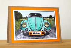 Card by Robyn Wood using Darkroom Door VW Beetle Photo Stamp with Copic Markers