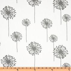 Premier Prints Dandelion Twill White/Storm from @fabricdotcom  Screen printed on cotton twill.