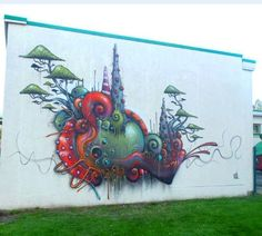 """The perfect planet or simply inside the mind of artist Ben """"Ucon"""" Peeters @ucon01 in Belgium http://globalstreetart.com/ucon01  #globalstreetart"""