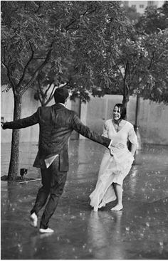 be with the one who will dance with you in the rain.