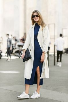 Fabulous Dress + Classic Sneakers, Nike, Stephanie Gundelach, street style, Paris Fashion Week, Sandra Semburg / Garance Doré