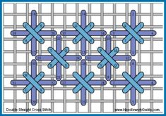 Cross Stitch Patterns Double Straight Cross - Needlework News, Tools and Inspiration Blackwork Cross Stitch, Blackwork Embroidery, Cross Stitch Fabric, Cross Stitching, Cross Stitch Embroidery, Cross Stitch Patterns, Floral Embroidery, Embroidery Patterns, Bargello Needlepoint