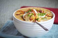 Bakeaholic Mama: Slow Cooker BBQ Loaded Baked Potato Soup
