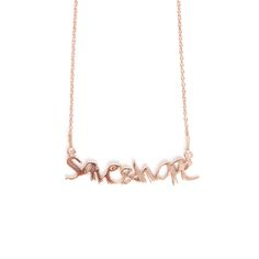 Save&Hope - Skin Deep X Moogu gold plated sterling silver pendant and necklace