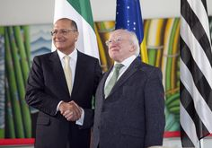 President of Ireland Michael D Higgins with Geraldo Alckmin, Governor of Sao Paulo , at Bandeirantes Palace, in Sao Paulo, Brazil on the sixth day of President's 13 day official visit to South America in October Interesting News, South America, Brazil, Palace, Presidents, Ireland, Photo Galleries, October, Photography