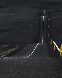 Ring Road (Iceland's route 1) runs through miles of black sand beach, the result of the last jökulhlaup (glacial outburst flood) from a sub glacial volcanic eruption.