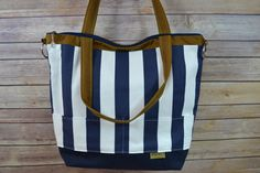 NAVY AND WHITE STRIPES IN OUR NEW PRO SIZE CAMERA BAG! DARBY MACK