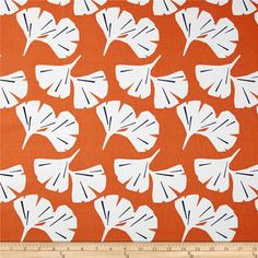 Screen printed on cotton duck, this versatile medium-weight fabric is perfect for window accents (draperies, valances, curtains, and swags), accent pillows, duvet covers, and upholstery projects. Colors include burnt orange, white, and black.