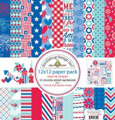 Fourth of July > Stars & Stripes 12 x 12 Paper Pack - Doodlebug: A Cherry On Top
