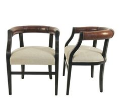 Lucca Antiques - Seating: Lucca Studio Pair of Bennet Chairs
